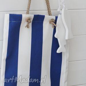 letnia torba, paski, plażowa, marynistyczna, torebka, damska torebki, prezent