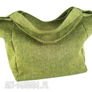 oryginalny prezent, aneta pruchnik sand green, torebka, duża, plecionka, zielona