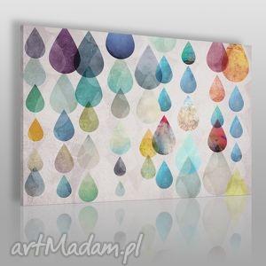 obraz na płótnie - kolorowe krople 120x80 cm 27101 , krople, łzy, kolorowy, deszcz