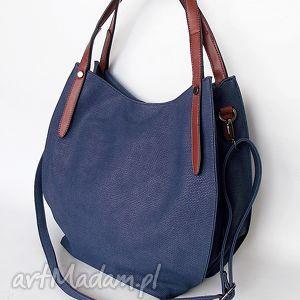 na ramię granatowa torba ramię, torba, torebka torebki