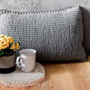 rabarbar handmade poduszka ze sznurka bawełnianego 60x40 cm, poduszka, poszewka