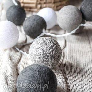 qule cotton ball lights przyjemne szarości 10 qul, sypialnia, salon, dziecka, domu
