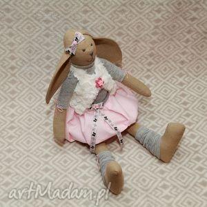 pod choinkę prezent, maskotki żona marynarza, królik, maskotka, szmacianka, roczek