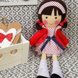 malowana lala martynka, lalka, zabawka, przytulanka, prezent, niespodzianka, dziecko
