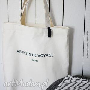 Torba Articles de voyage , torba, torebka, damska, ramię, plażowa, napis