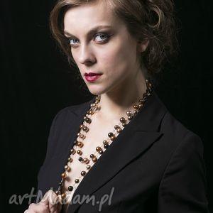 naszyjniki złoty sznur pereł-naszyjnik, długi, naszyjnik, srebro, perły, swarovski