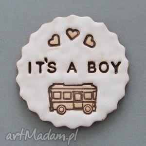 its a boy-magnes ceramiczny, narodziny, ciąża, syn, lodówka, drobiazg, upominek