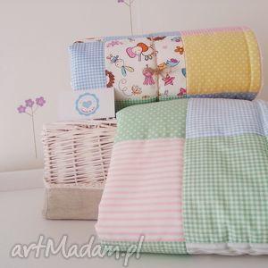 kocyk minky patchwork, kolorowy cukierkowy, minky, kocyk, handmade dla