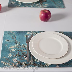 podkładki zestaw 4 podkładek na stół, vincent van gogh kwitnący migdałowiec