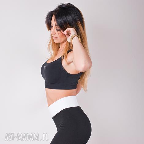 legginsy sportowe czarne dopasowane damskie modne spodnie rurki , redmasterclothes