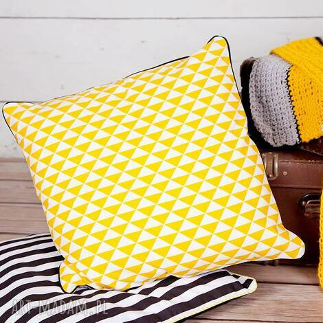 poszewka na poduszkę trójkąty scandi - 6 kolorów, poduszka, poszewka