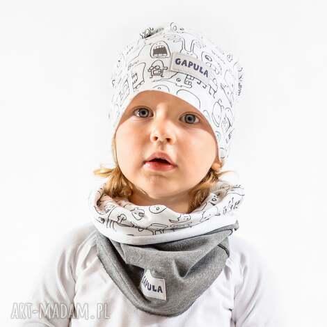 ubranka komin duszki-szary, bawełna, handmade, wygoda, ciepło, duchy, szary dla