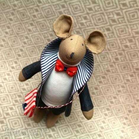 gryzoń marynarz, mysz, szczurek, maskotka, roczek, chrzest, świąteczny