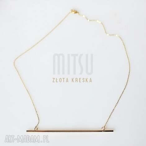 złota kreska - minimalizm, geometryczne, kreska, łańcuszek, pozłacane