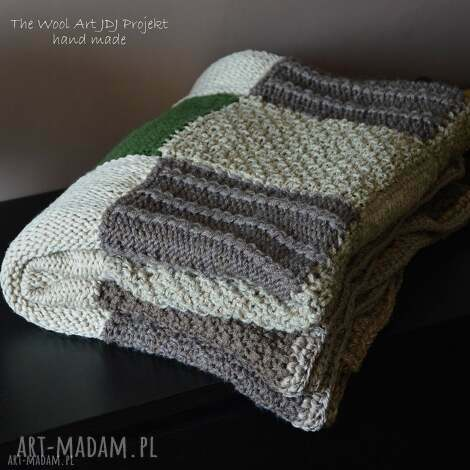 the wool art pled patchwork, pled, koc, narzuta, dom, wełniany