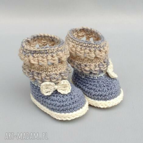kozaczki banf, buciki, kozaczki, wełniane, ciepłe, niemowlę, dziecko buciki dla