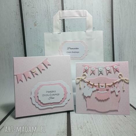 zestaw maluszkowe ubranka, pamiątka, pudełko, chrzest, urodziny, narodziny