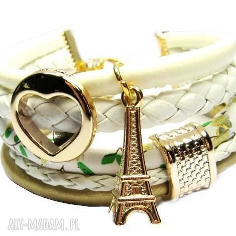 bransoletki bransoletka rzemienie white gold charms do wyboru