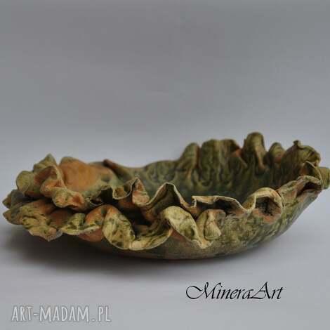 w kolorach jesieni, misa, patera, talerz, ceramika dom