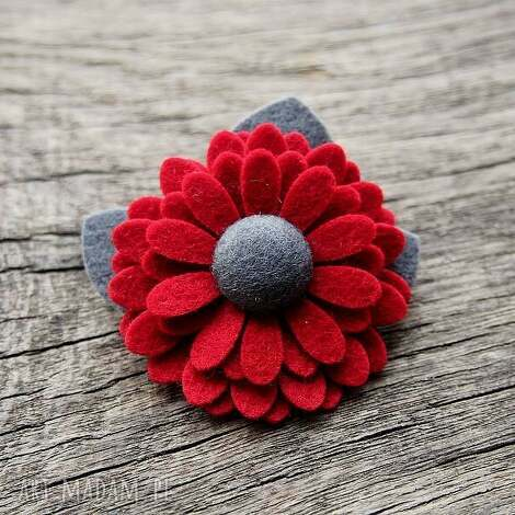 broszka - broszka, kwiatek, święta, filc, prezent