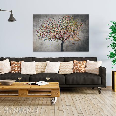 obraz na płótnie - drzewo liŚcie - 120x80 cm 30601 - drzewo, liście