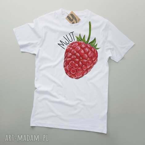 mjut malina owocowy tshirt, koszulka, owoce, nadruk, pod choinkę prezenty