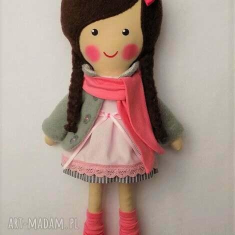 malowana lala wiki z szalikiem - lalka, zabawka, przytulanka, prezent, niespodzianka