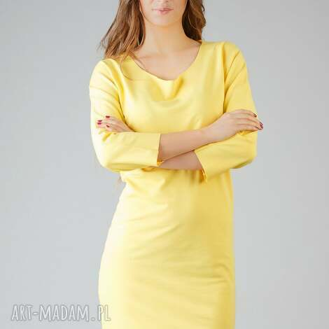 sukienki sukienka kami 2, wygodna, swobodna, modna, midi, surowa ubrania