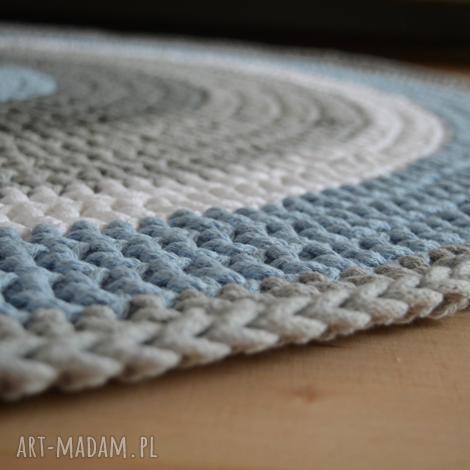 dywany ręcznie robiony okrągły dywan ze sznurka bawełnianego połączenie szarości