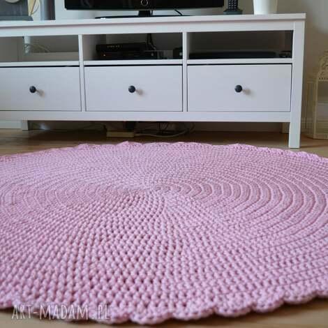 dywany ręcznie robiony szydełkowy dywan sweet pink, crrochet, dywan, handmade