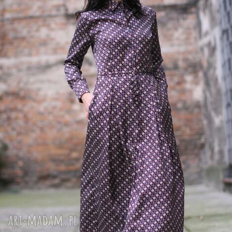 oryginalny prezent, monika jaworska sukienka jedwabna koszulowa, jedwab, koszulowa