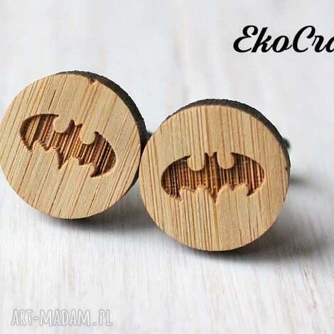 drewniane spinki do mankietów batman, spinki, mankietów, drewniane, drewno
