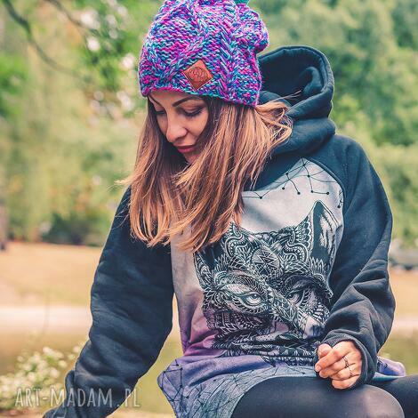 czapki im a hero skarby lasu, jesień, zima, czapka, handmade, włóczka
