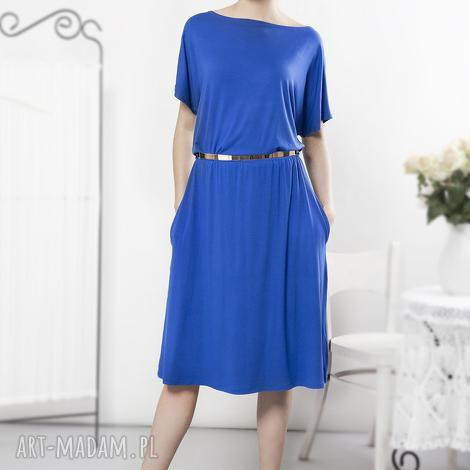 uniwersalna szafirowa sukienka, letnia, szafirowa, wygodna ubrania