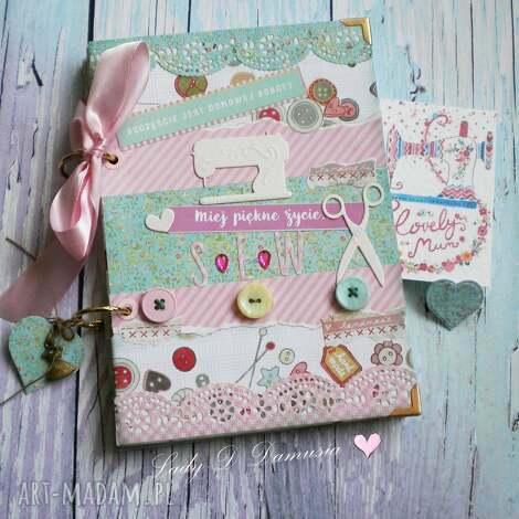 stylowy notatnik dla miłośniczek szycia i życia , notes, kobiecy, dziennik, zapiski