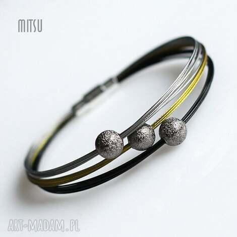 bransoletki black gold silver slim, industrial, prostotoa, elegancja, minimalizm