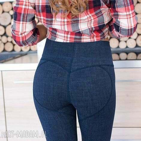 fajne elastyczne modelujące pupę legginsy spodnie rurki s, redmasterclothes