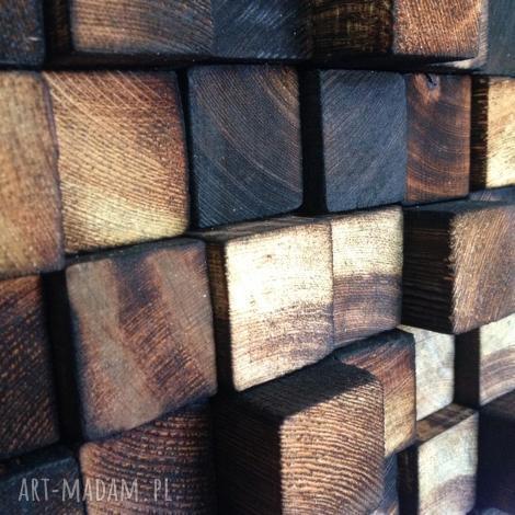 drewniana sciana drewniany obraz na zamówienie, mozaika, drewno, ściana