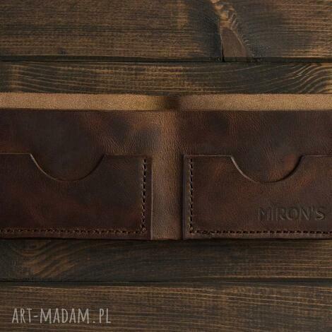 unikalne prezenty, portfele bifold brązowy, portfel, portfelik, skóra, skórzany