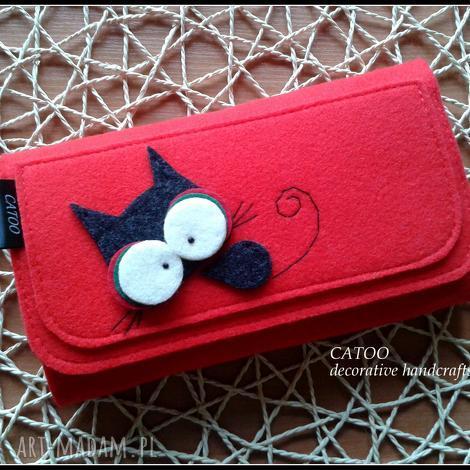 portfele duzy portfel z kotkiem, catoo, portfel, prezent, kot, portfelik, oryginalny