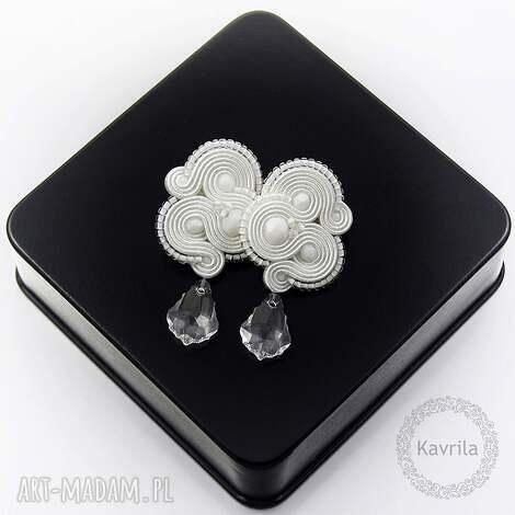kolczyki ślubne femidi crystal soutache, sutasz, ślubne, stylowe