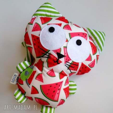 pod choinkę prezent, kicior - arbuzowy, kot, kotek, przytulanka dla dziecka