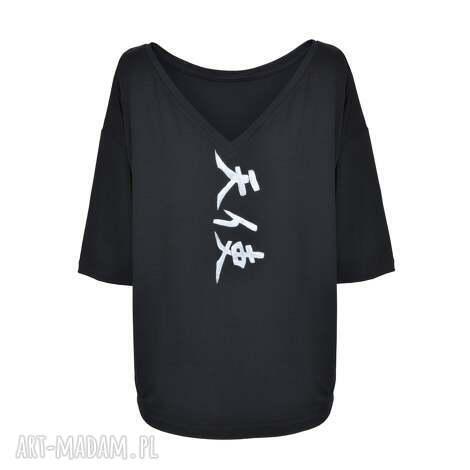 świąteczny prezent, tuniki bluzka czarna tensi angel, tunika, sukienka, wiosna
