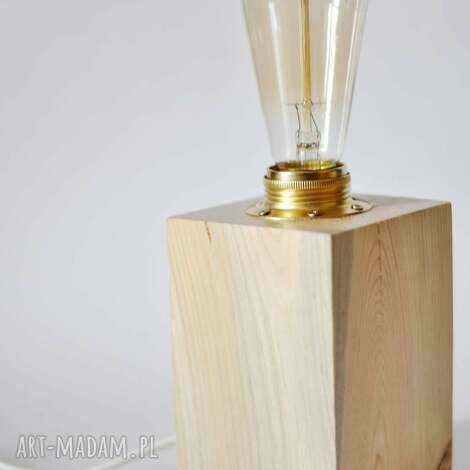 dom drewniana lampka rustic edison 10x15, lampa, lampka, vintage, rustykalna