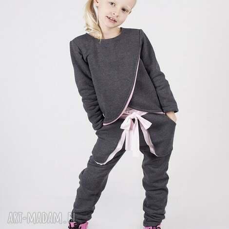 ubranka spodnie dsp01 rita, mode, grafitowe, stylowe dla dziecka