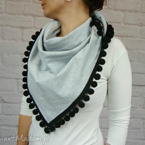 bukiet pasji chusta damska z kuleczkami, chusta, kuleczki, bawełna, prezent, kobiet