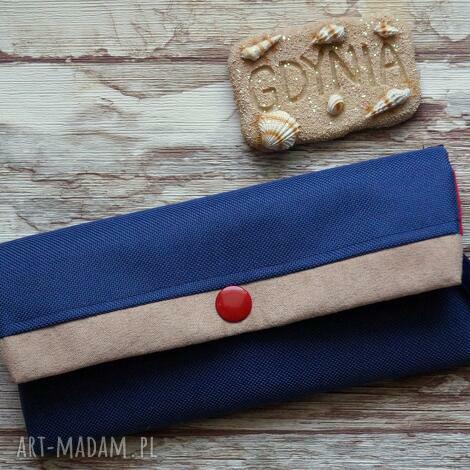 portfele portfelik , portfel, prezent, styl, marynarski, kotwice, prezent na święta