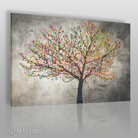 obrazy obraz na płótnie - drzewo liście 120x80 cm 30601 , drzewo, liście, kolory