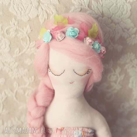 kwiatowa bajka - lalka sanna, lalka, wróżka, różana, wianek, kwiatuszki dla dziecka