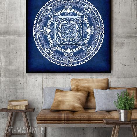 mandala 50x50cm, mandala, granat, dekoracje, plakat, rysunek dom
